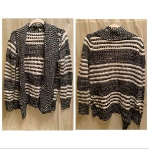 B&W Stripped Cardigan Size Large